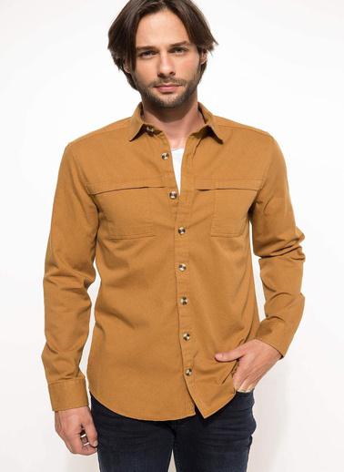 DeFacto Slim Fit Gömlek Renkli